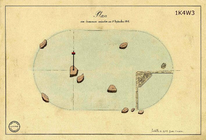 Le film de la construction - Planches de 1860. -  2.État des travaux au 9 septembre 1842.