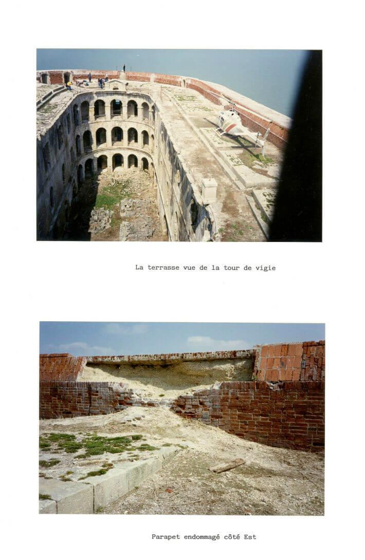Etat des lieux du Fort en 1989 avant les travaux - Dossier SEMDAS - 3/6