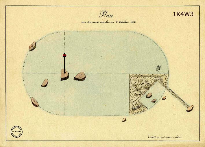 Le film de la construction - Planches de 1860. - 3.État des travaux au 9 octobre 1842.