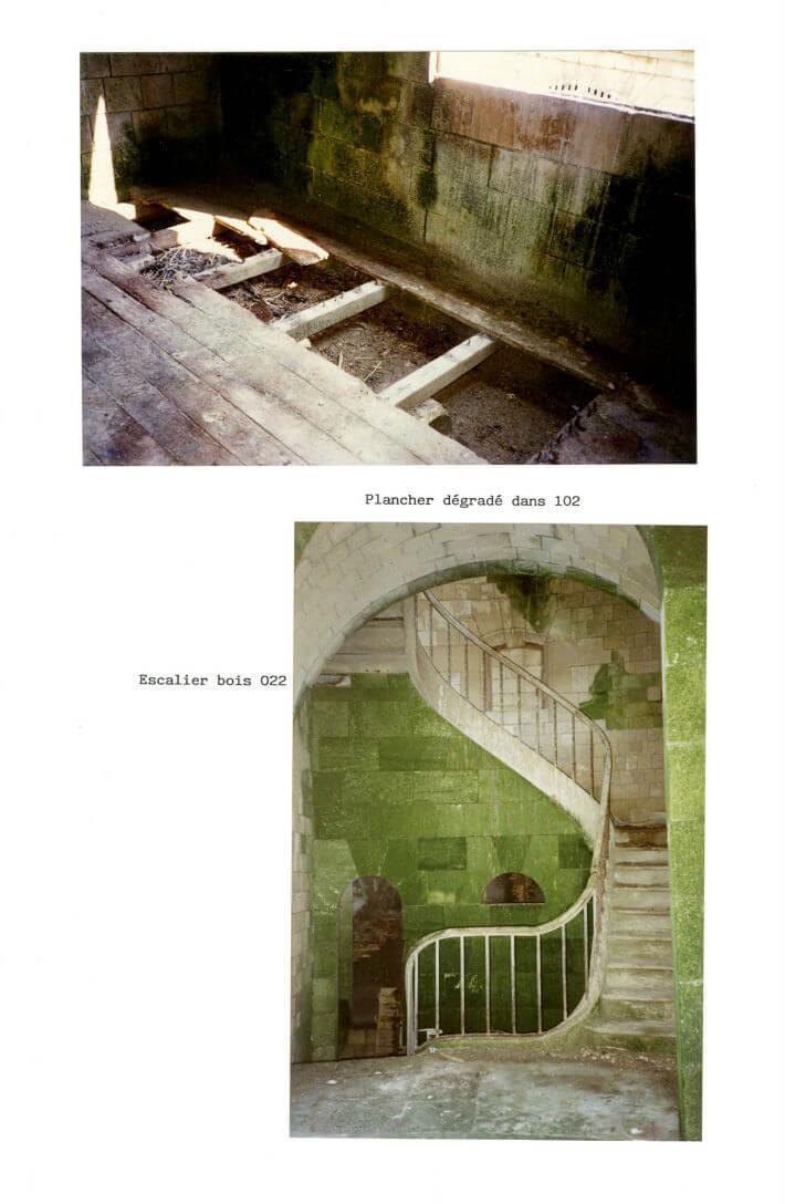 Etat des lieux du Fort en 1989 avant les travaux - Dossier SEMDAS - 6/6