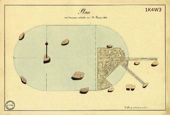 Le film de la construction - Planches de 1860. - 4.État des travaux au 19 février 1843.