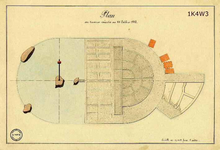 Le film de la construction - Planches de 1860. - 8.État des travaux au 25 octobre 1843.