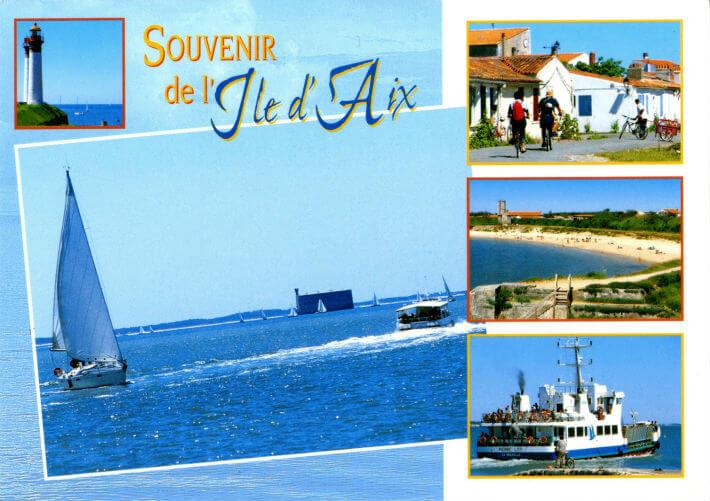 Carte postale  - Souvenir de l'Ile d'Aix