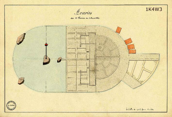 Le film de la construction - Planches de 1860. - 9.État des avaries survenus les 19 février et 4 mars 1844.