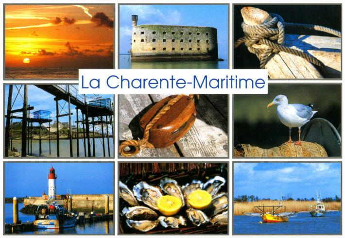 Carte postale  de La Charente-Maritime, Fort Boyard, Les carrelets.