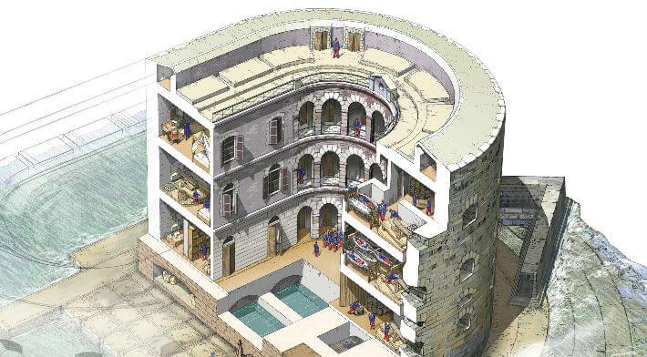 Fort boyard, vue intérieure - illustration 2009