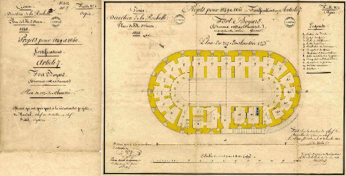 Boyard de l'intérieur - Plan 1848