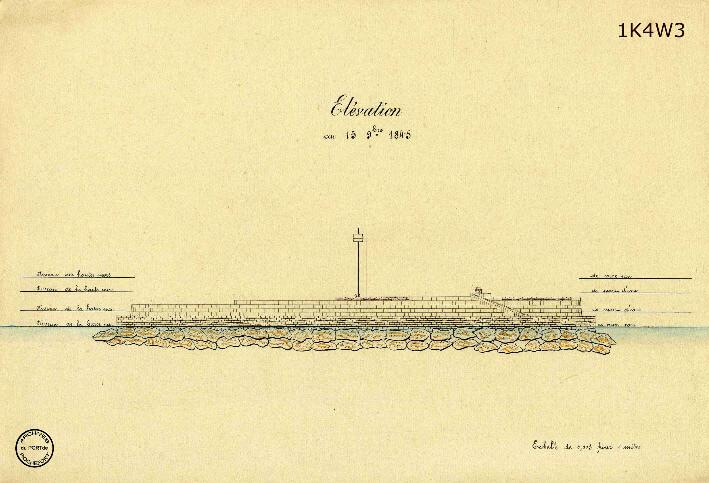 Le film de la construction - Planches de 1860. - 13.État des travaux au 15 novembre 1845. Élévation.
