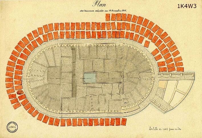 Le film de la construction - Planches de 1860. - 14.État des travaux au 15 novembre 1845.