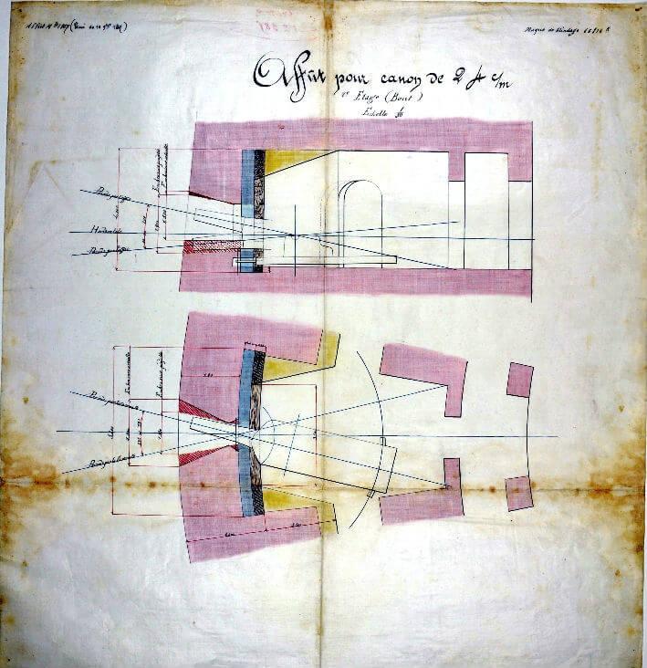 Affût pour Canon - Plan 1867