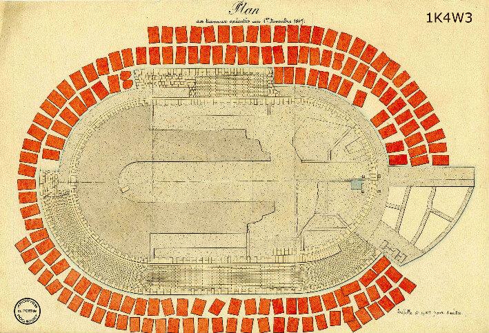 Le film de la construction - Planches de 1860. - 16.État des travaux au 1er novembre 1847.