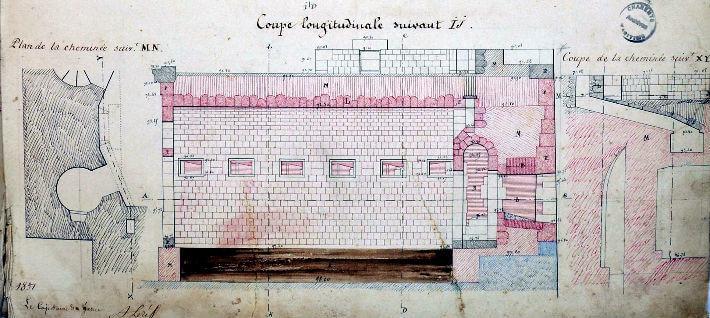 Boyard, revue de détails - Plan 1850 - 1852