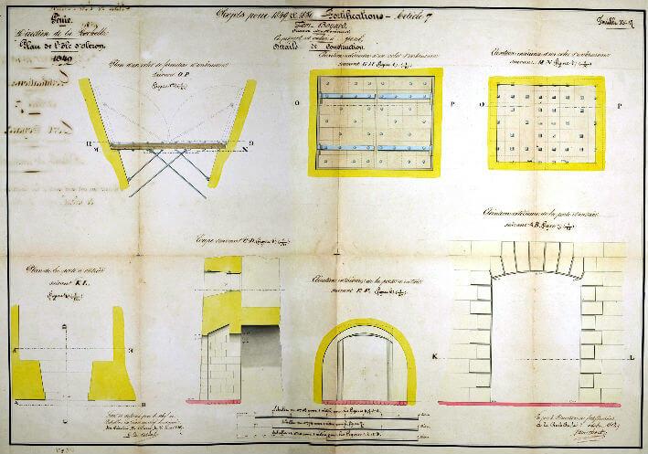 Détails de construction - Plan 1849