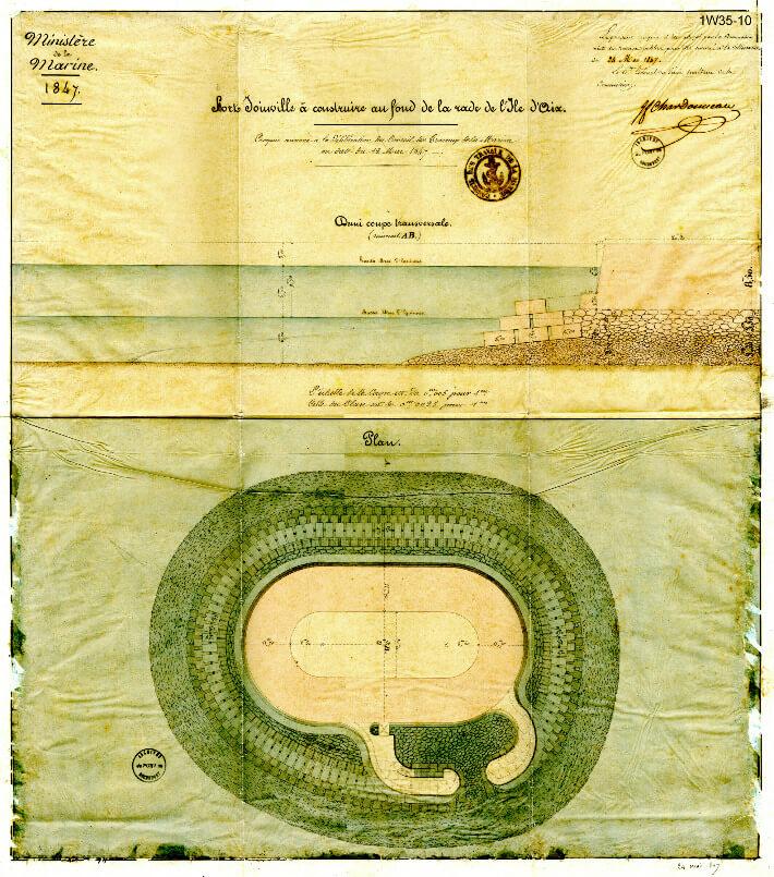 Fort Joinville, le petit frère de Boyard - Plan 1847