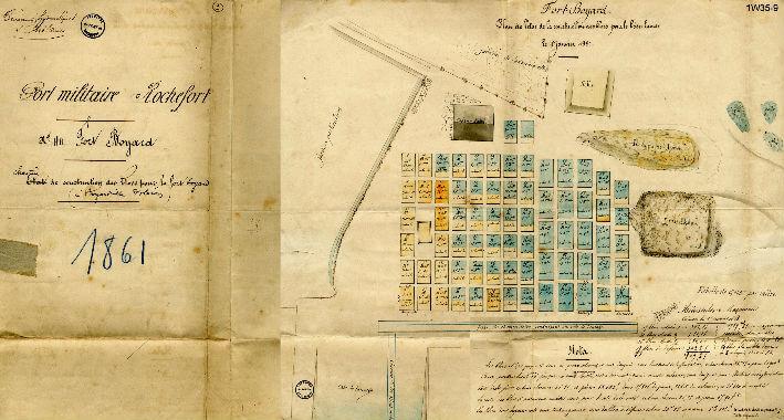 Un défi logistique - Plan de 1861