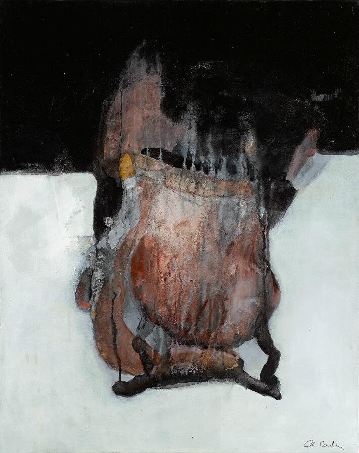 Chantal CARTIER - Sans titre - Pigments -Liant acrylique - Poudre de marbre, 73 x 92 cm