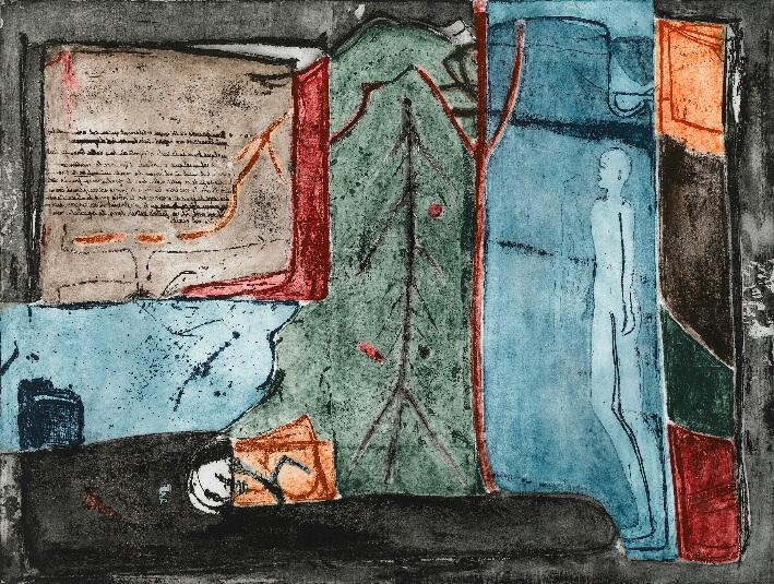Yagui DRUID - Le Père - Gravure pointe sèche, eaux fortes, taille douce, vernis mou sur plaque de zinc, 80 x 60 cm
