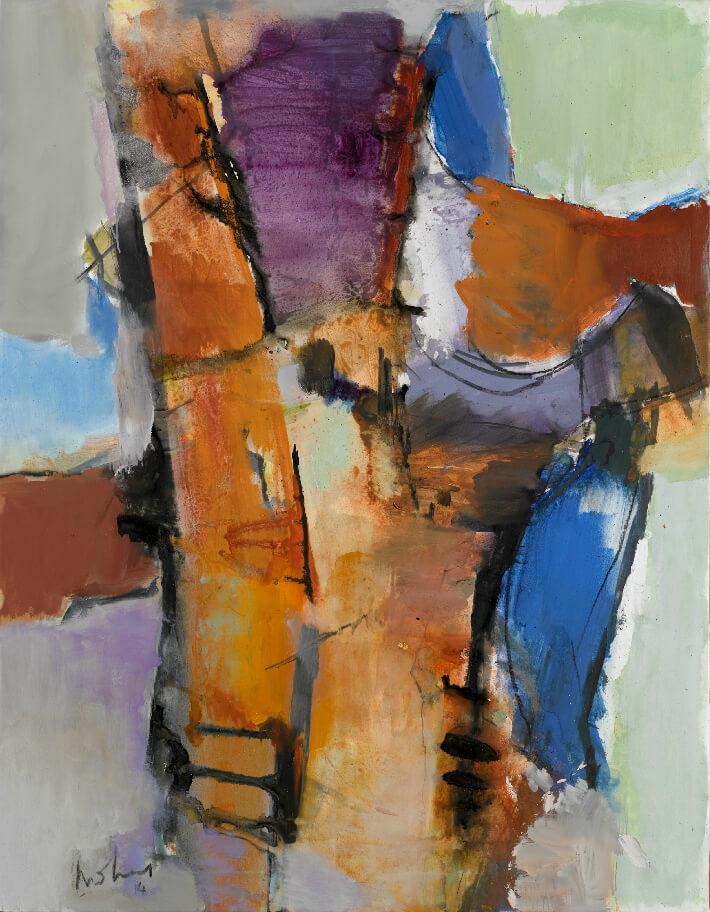 Daniel MOHEN - La Cotinière, mai 2014 - Pigments et acrylique / toile, 114 x146 cm
