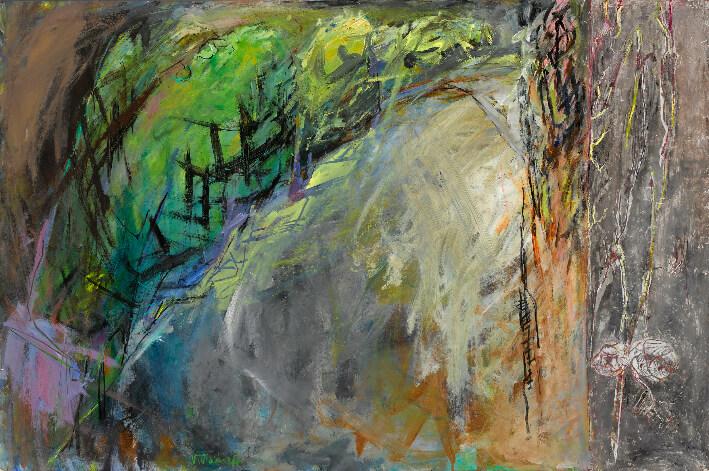 Véronique WISDORFF - Colline - Acrylique et peinture à la cire sur carton, 80 x 120 cm