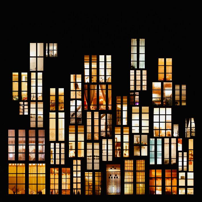 Anne-Laure MAISON - Tableau d'intimités (Île de Ré) - Photomontage numérique, photographie, contrecollage sur aluminium, 90 x 90 cm