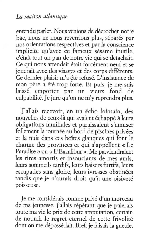 Philippe Besson - La maison atlantique - Editions Juillard - 3
