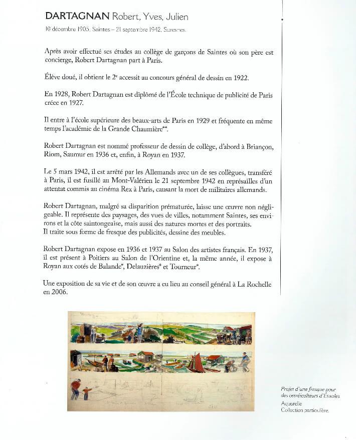 François WIEHN - Dictionnaire des peintres de Charente-Maritime - Gestes Editions - Dartagnan -  p1