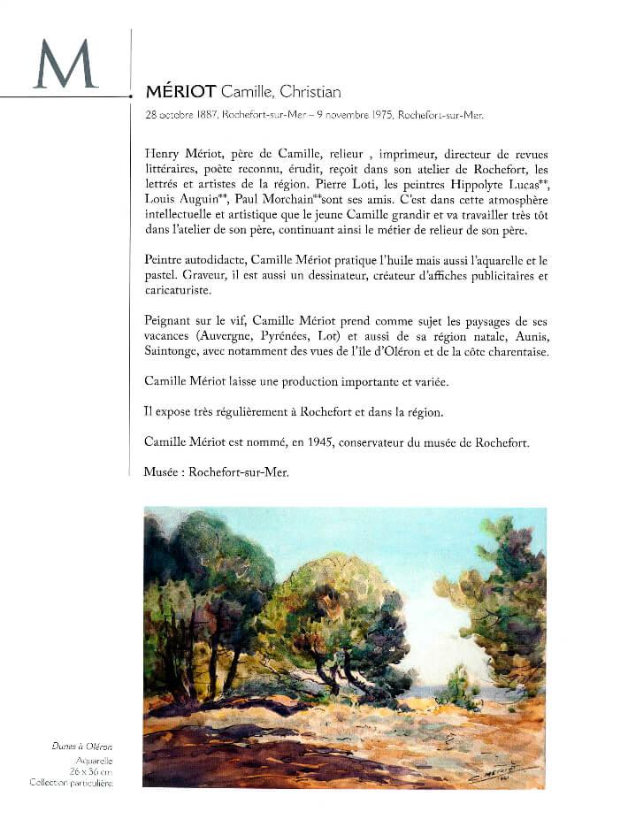 François WIEHN - Dictionnaire des peintres de Charente-Maritime - Gestes Editions - Meriot