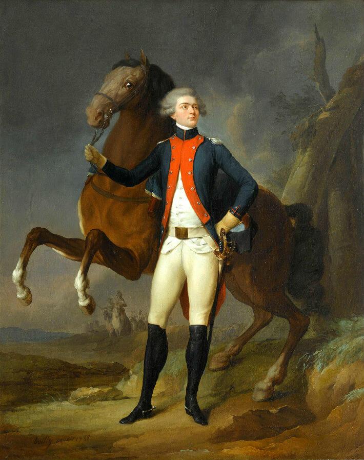 Marie Gilbert Mottier (1797-1834), marquis de La Fayette en uniforme de capitaine du régiment de Noailles