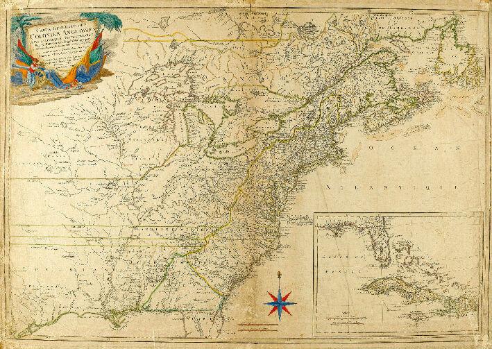 Carte générale des colonies anglaises dans l'Amérique septentrionale