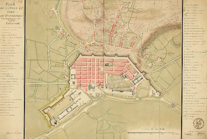 Rochefort : plan de la ville et du port - 1754