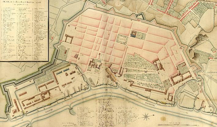 Rochefort : plan de la ville et du port - 1775