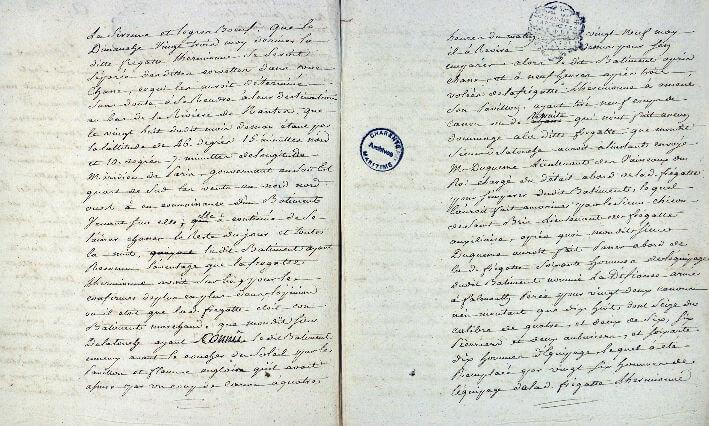 Déclaration du 3 juin 1779 de prises par l'Hermione - Pages 2 et 3