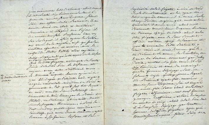 Déclaration du 3 juin 1779 de prises par l'Hermione - Pages 4 et  5