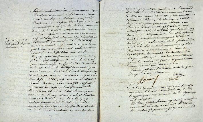 Déclaration du 3 juin 1779 de prises par l'Hermione - Pages 6 et 7
