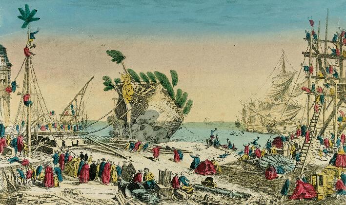 Vues du port et arsenal de Rochefort - Vue 1
