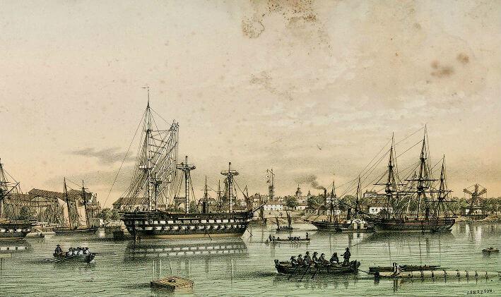 Vue du port de Rochefort - Vue 7