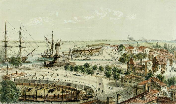 Vue du port de Rochefort - Vue 8