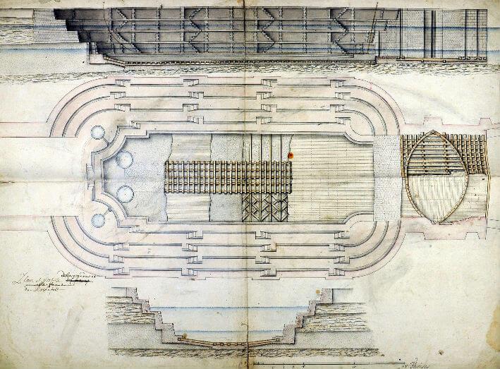 Plan et profil de la grande et nouvelle forme de Rochefort