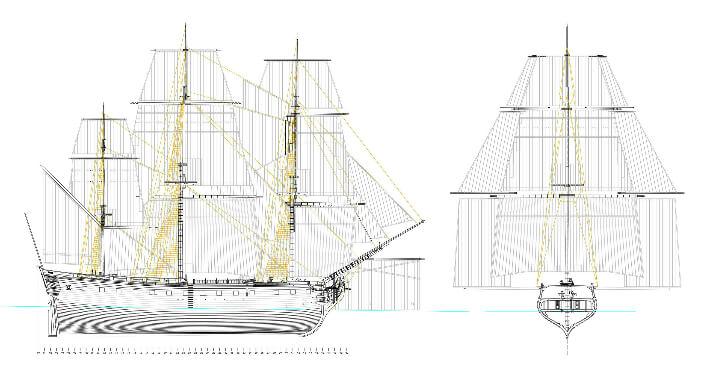Vue d'ensemble du navire - Yacht Concept