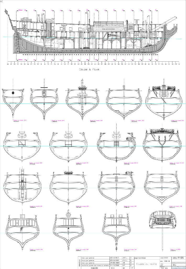 Coupes du navire - Yacht Concept