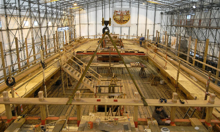 Pont de gaillard en construction - 18/01/2008