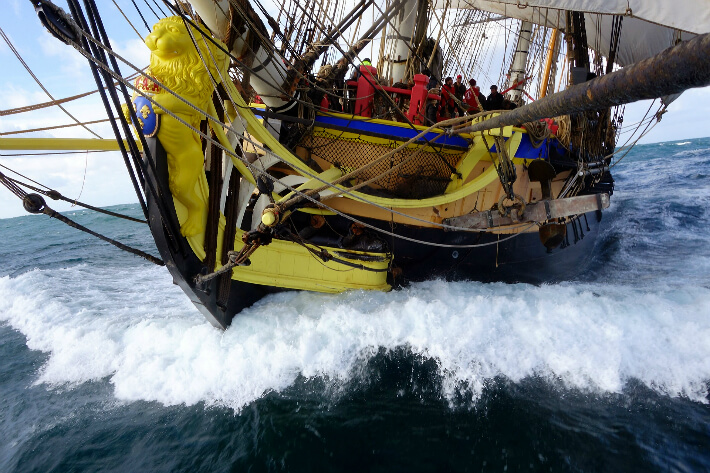 L'Hermione en action - 04/11/2014