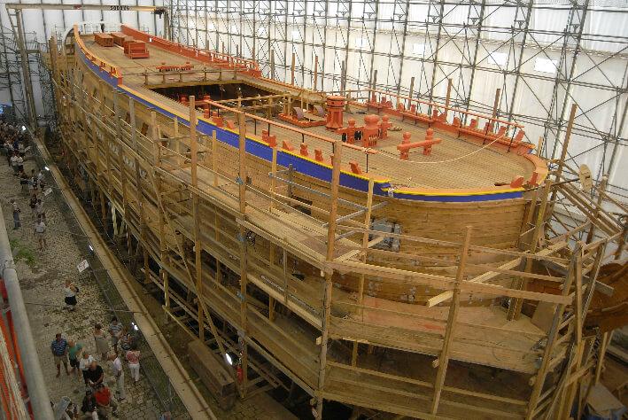 Visite du chantier de L'Hermione - 11/09/2009