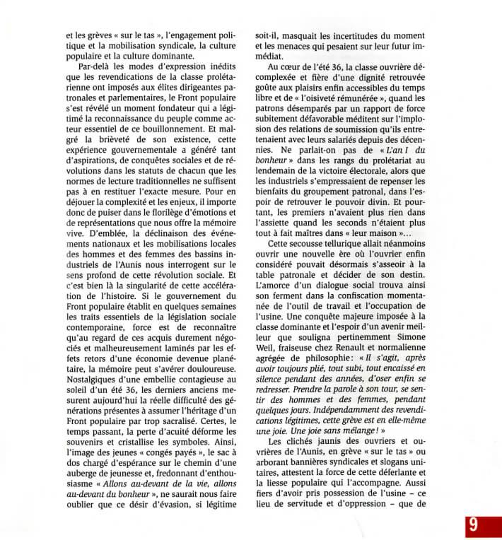 Jean-Michel BLAIZEAU - La Rochelle, Rochefort et l'Aunis sous le Front populaire - 1936-1938 - p9