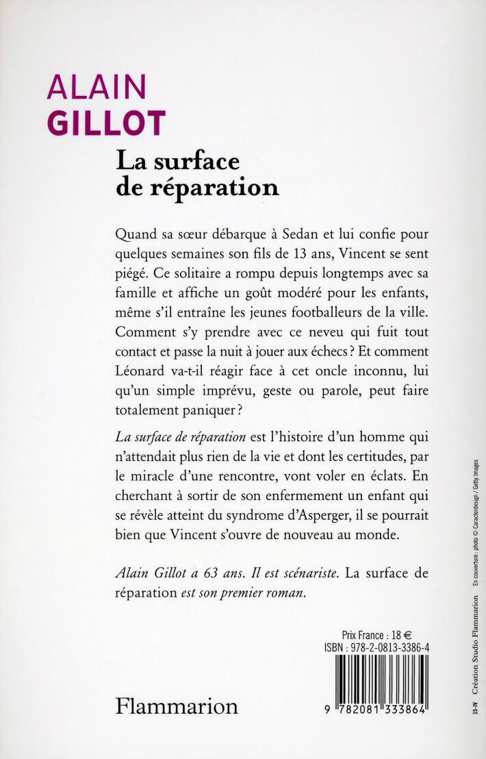 Alain Gillot - La surface de réparation - verso