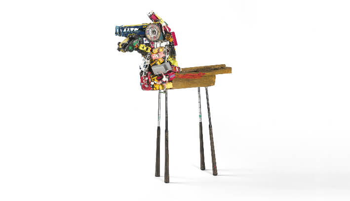 Jacques BLÉZOT - Batsous - Métal, bois, plastique - 72 x 93 x 20 cm