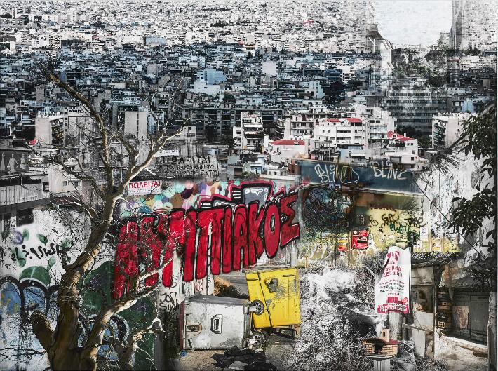 Danielle CADUSSEAU - Athènes 2014 - Montage photographique - 60 x 45 cm