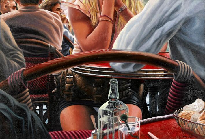 Patrice LARUE - La petite culotte - Huile sur toile - 130 x 89 cm