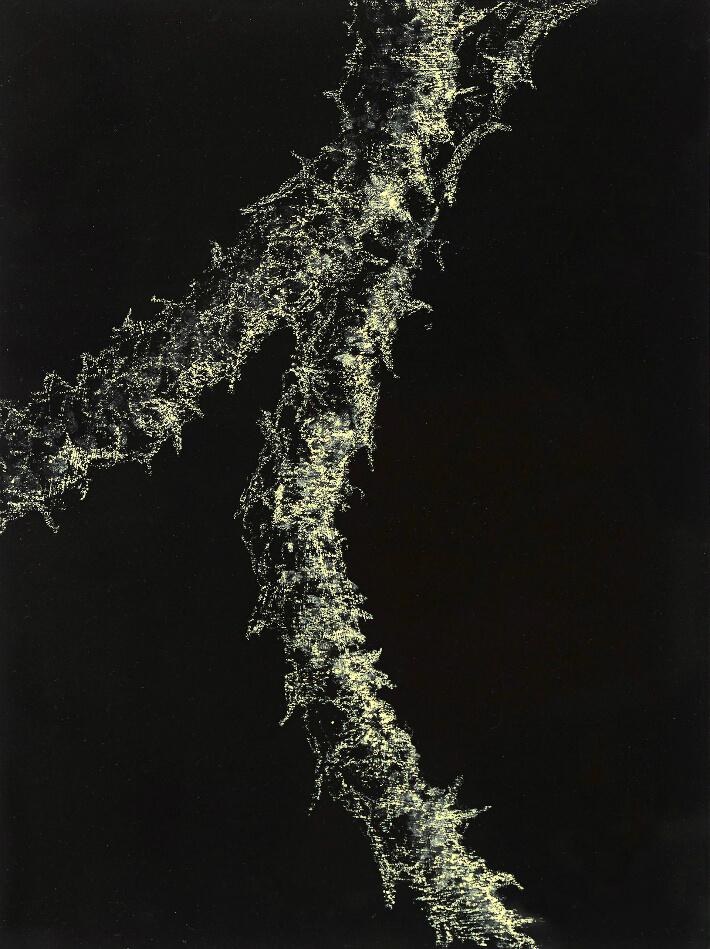 William MATHIEU - Lumière planche 6 - Acrylique et pastel sur papier - 30 x 40 cm