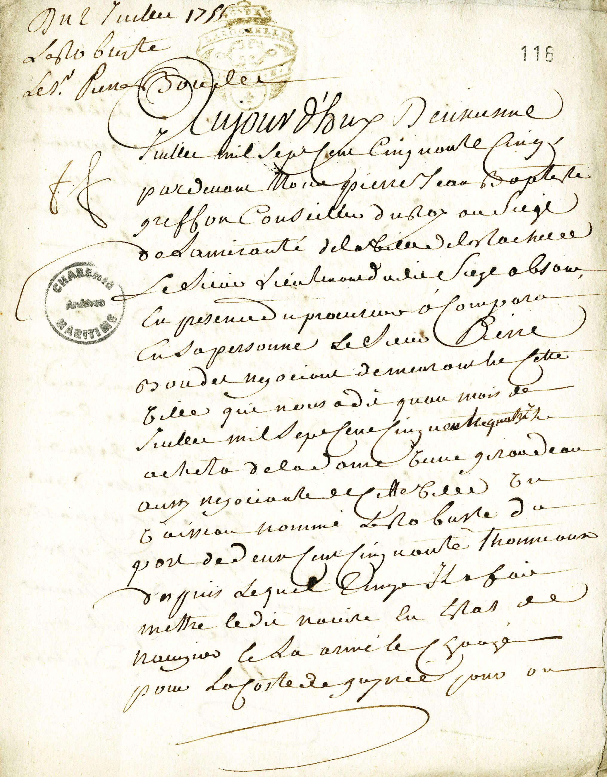 Déclaration de l'armateur Pierre Boudet